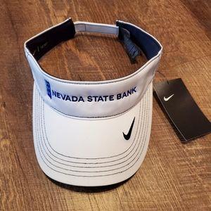 NWT Nike Golf Dri-Fit Nevada State Bank Visor